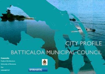 City profile Batticaloa Municipal Council - UN HABITAT
