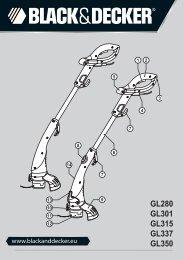 BlackandDecker Coupe-Bordure- Gl350 - Type 3 - Instruction Manual (Européen Oriental)