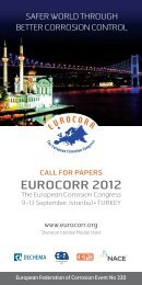 call for papers - Eurocorr 2012