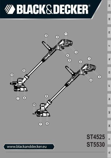 BlackandDecker Coupe-Bordure- St4525 - Type 1 - Instruction Manual (Européen)