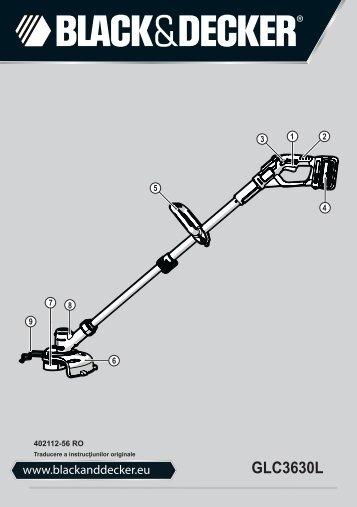 BlackandDecker Coupe-Bordurel Sans Fil- Glc3630l - Type H1 - Instruction Manual (Roumanie)