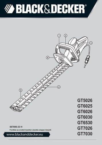 BlackandDecker Taille Haies- Gt6026 - Type 1 - Instruction Manual (la Hongrie)