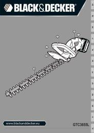 BlackandDecker Taille-Haies S/f- Gtc3655l - Type H1 - Instruction Manual (Européen)