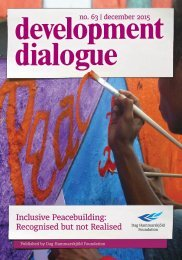 Inclusive Peacebuilding Recognised but not Realised
