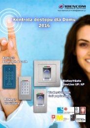 Biometryczna Kontrola dostępu Katalog dla domu 2016