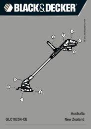 BlackandDecker Coupe-Bordurel Sans Fil- Glc1825 - Type H1 - Instruction Manual (Australie Nouvelle-Zélande Ni-Cad)