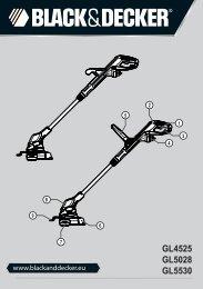 BlackandDecker Coupe-Bordure- Gl5028 - Type 1 - Instruction Manual (Européen Oriental)