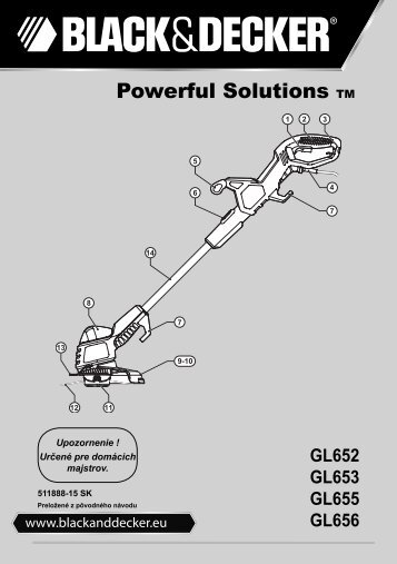 BlackandDecker Coupe-Bordure- Gl655 - Type 2 - 3 - Instruction Manual (Slovaque)