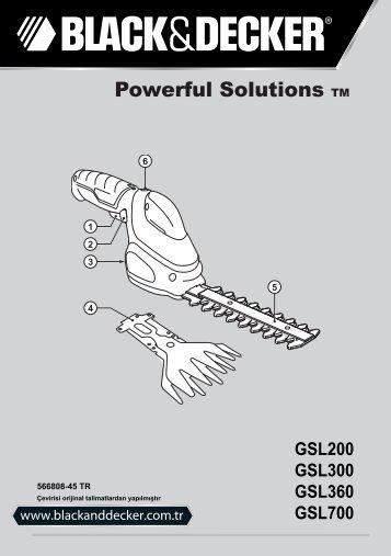 BlackandDecker Debroussaileuse- Gsl700 - Type H1 - Instruction Manual (Turque)