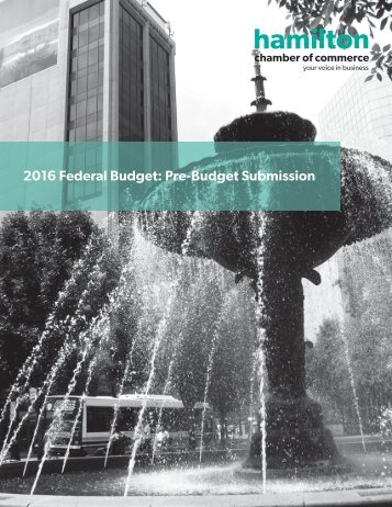 2016 Federal Budget Pre-Budget Submission