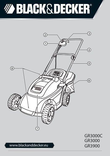 BlackandDecker Tondeuse Rotative- Gr3000 - Type 1 - 2 - Instruction Manual (Européen)