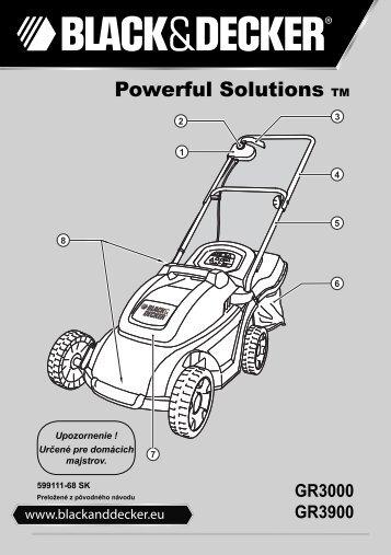 BlackandDecker Tondeuse Rotative- Gr3000 - Type 1 - 2 - Instruction Manual (Slovaque)