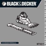 BlackandDecker Tete De Debroussaill- Mtss11 - Type 1 - Instruction Manual (Européen)