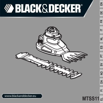 BlackandDecker Tete De Debroussaill- Mtss11 - Type 1 - Instruction Manual (Européen)