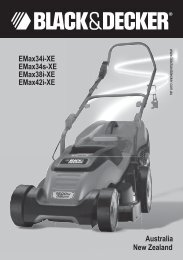 BlackandDecker Tondeuse Rotative- Emax34 - Type 2 - Instruction Manual (Australie Nouvelle-Zélande)