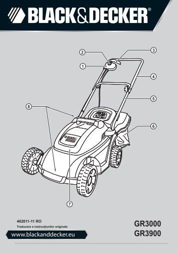 BlackandDecker Tondeuse Rotative- Gr3000 - Type 1 - 2 - Instruction Manual (Roumanie)