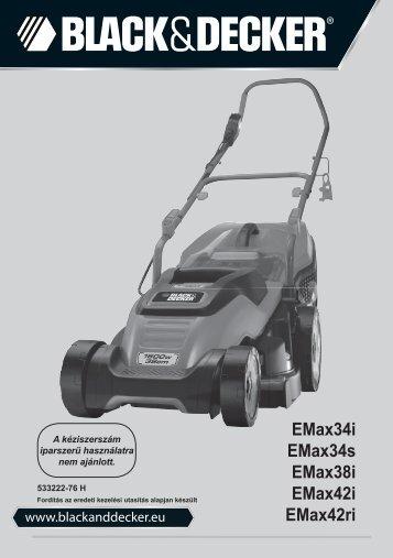 BlackandDecker Tondeuse Rotative- Emax42 - Type 3 - Instruction Manual (la Hongrie)