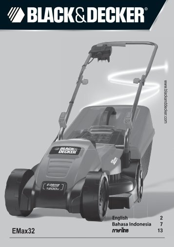 BlackandDecker Tondeuse Rotative- Emax32 - Type 1 - Instruction Manual (Asie)