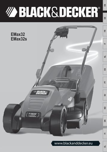 BlackandDecker Tondeuse Rotative- Emax32 - Type 1 - Instruction Manual (Européen)