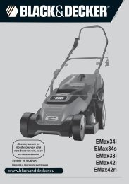 BlackandDecker Tondeuse Rotative- Emax34 - Type 1 - Instruction Manual (Russie - Ukraine)
