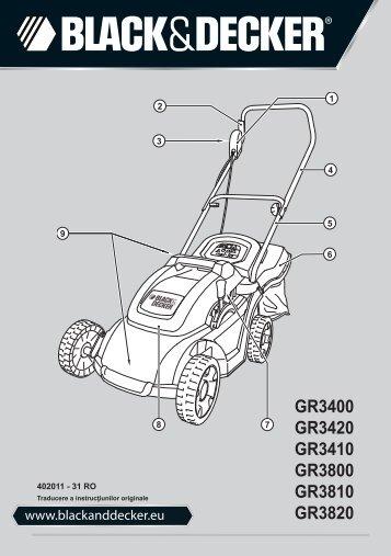 BlackandDecker Tondeuse Rotative- Gr3410 - Type 1 - Instruction Manual (Roumanie)