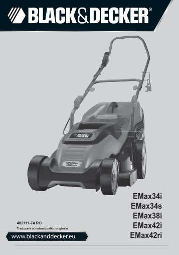BlackandDecker Tondeuse Rotative- Emax34 - Type 1 - Instruction Manual (Roumanie)