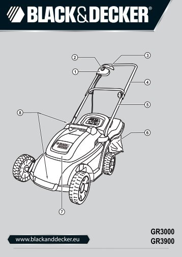 BlackandDecker Tondeuse- Gr3900 - Type 1 - 2 - Instruction Manual (Européen)