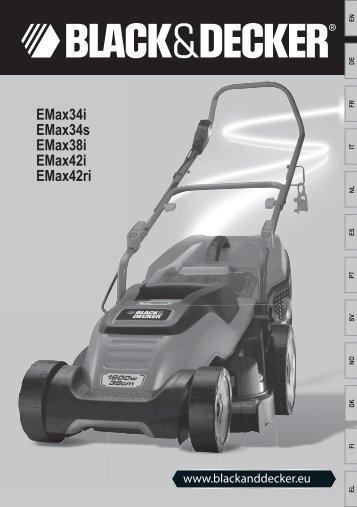 BlackandDecker Tondeuse Rotative- Emax38 - Type 2 - Instruction Manual (Européen)