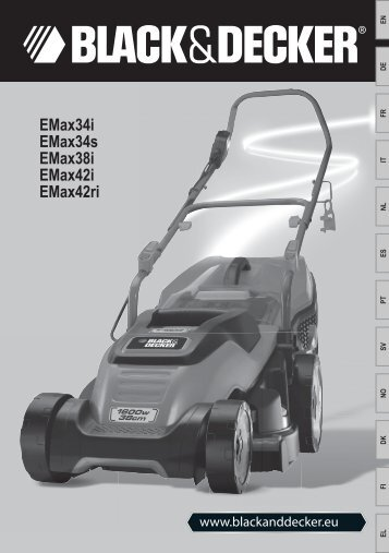 BlackandDecker Tondeuse Rotative- Emax38 - Type 2 - Instruction Manual
