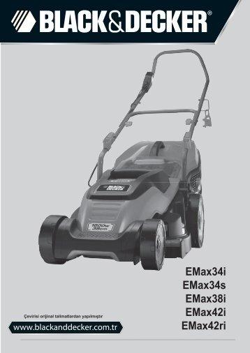 BlackandDecker Tondeuse Rotative- Emax38 - Type 3 - Instruction Manual (Turque)