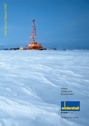 HSE Annual Report 2007 (English) - WINTERSHALL