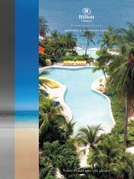Travel is more than just A to B. Travel should ... - Hilton Caribbean
