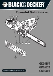 BlackandDecker Tronconneuse- Gk1635t - Type 5 - Instruction Manual (Anglaise)
