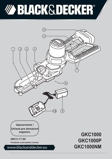 BlackandDecker Coupe-Branche- Gkc1000 - Type H1 - Instruction Manual (Slovaque)