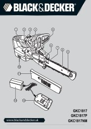 BlackandDecker Tronconneuse- Gkc1817 - Type H1 - Instruction Manual (Anglaise)