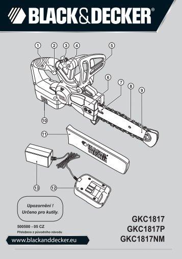 BlackandDecker Tronconneuse- Gkc1817 - Type H1 - Instruction Manual (Tchèque)