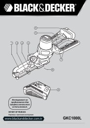 BlackandDecker Coupe-Branche- Gkc1000l - Type H1 - Instruction Manual (Russie - Ukraine)