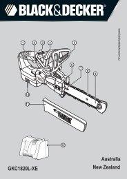 BlackandDecker Tronconneuse- Gkc1820l - Type H1 - H2 - Instruction Manual (Australie Nouvelle-Zélande)