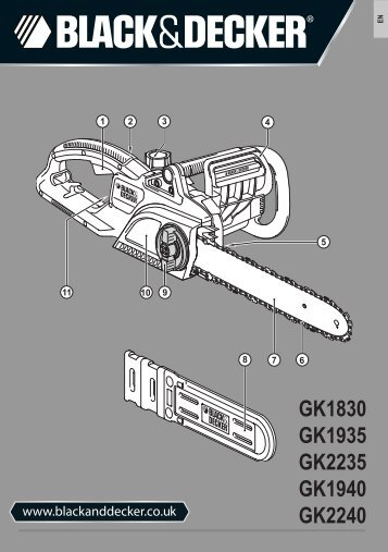 BlackandDecker Tronconneuse- Gk2235 - Type 3 - Instruction Manual (Anglaise)