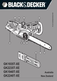 BlackandDecker Tronconneuse- Gk2240 - Type 3 - Instruction Manual (Australie Nouvelle-Zélande)