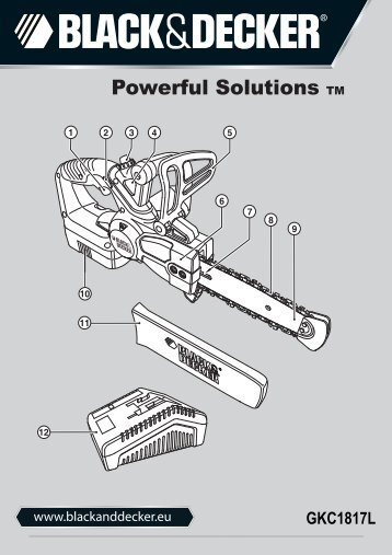 BlackandDecker Tronconneuse- Gkc1817l - Type H1 - Instruction Manual (Européen)