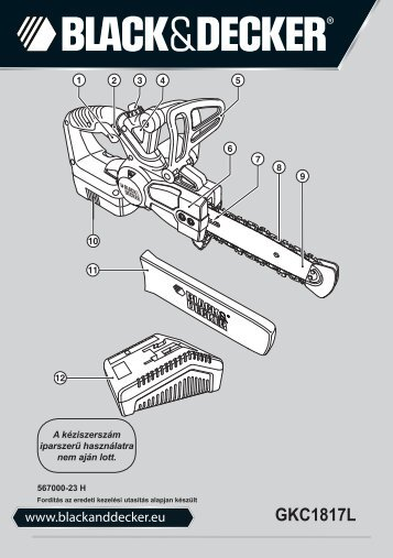 BlackandDecker Tronconneuse- Gkc1817l - Type H1 - Instruction Manual (la Hongrie)