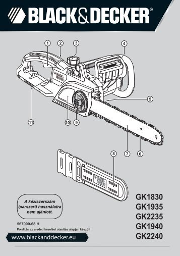 BlackandDecker Tronconneuse- Gk1830 - Type 2 - Instruction Manual (la Hongrie)