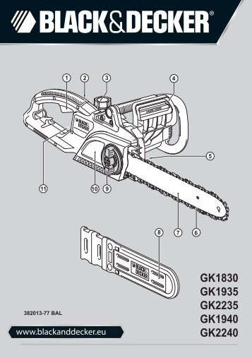 BlackandDecker Tronconneuse- Gk1940 - Type 3 - Instruction Manual (Balkans)