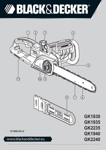 BlackandDecker Tronconneuse- Gk1940 - Type 3 - Instruction Manual (Lettonie)