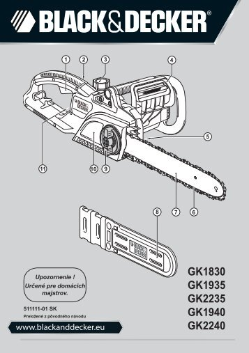 BlackandDecker Tronconneuse- Gk1830 - Type 2 - Instruction Manual (Slovaque)
