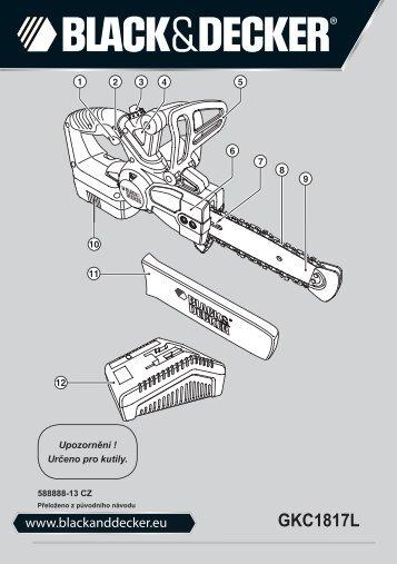 BlackandDecker Tronconneuse- Gkc1817l - Type H1 - Instruction Manual (Tchèque)