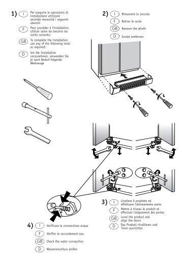 KitchenAid XBZ 800 AE NF/HA - Side-by-Side - XBZ 800 AE NF/HA - Side-by-Side DE (850340511000) Guide d'installation