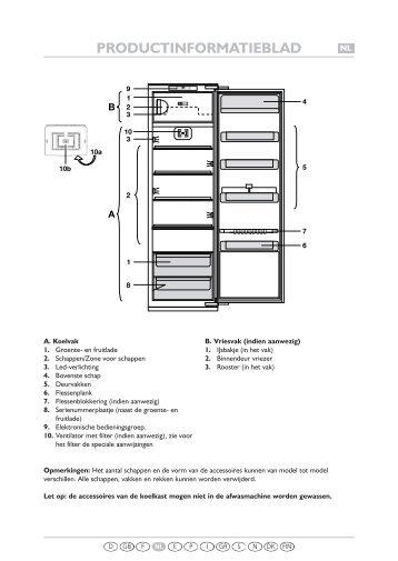 KitchenAid 905.2.12 - Refrigerator - 905.2.12 - Refrigerator NL (855164616000) Guide de consultation rapide