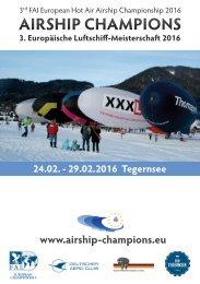 3. Europa-Meisterschaft der Luftschiffe 2016 - Airship Champions - 3rd FAI European Hot Air Airship Championship